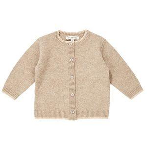 CARAMEL • Baby Hermione Oatmeal Cardigan Sweater